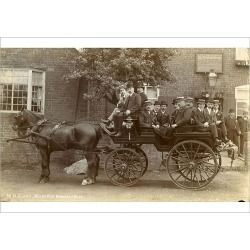 Poster Print. Carriage and Horses