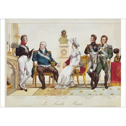 Poster Print. French Royal Family in 1814. The Count of Artois