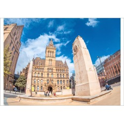 Poster Print. Manchester, town hall in St Peter�s sq