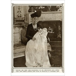 Poster Print. Queen Mary with Prince Charles