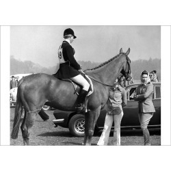 Poster Print. Royalty - Queen and Princess Anne - Windsor Great Park