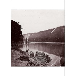 Poster Print. U.S. Transport in Rapids, Tennessee River/The Suck - Tennessee River below Chattanooga