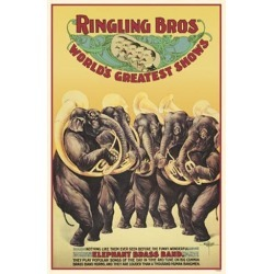 Poster: Ringling Brothers World's Greatest Shows, 17x11in.