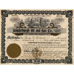 Poster: Vandeburgh Oil and Gas Company Certificate, 24x18in.