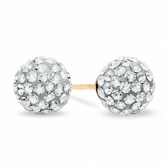 Previously Owned - Crystal Stud Earrings in 14K Gold