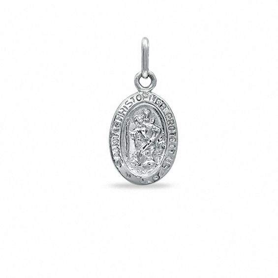 Previously Owned - St. Christopher Medal Charm in 10K White Gold