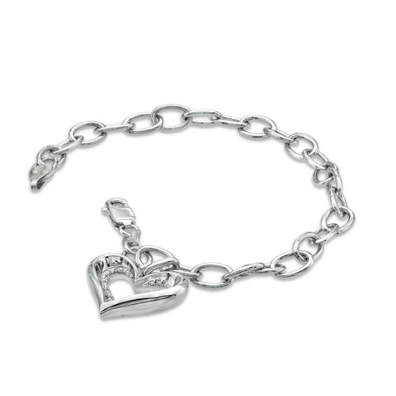 Previously Owned - The Heart Within™ Diamond Accent Heart Charm