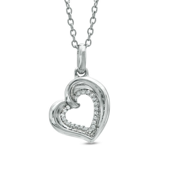 Previously Owned - The Heart Within™ Diamond Accent Tilted Heart