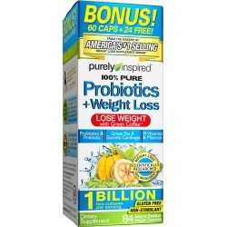 Purely Inspired 100% Pure Probiotics + Weight Loss Capsules - 84 ct
