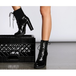 Ready To Rage Croc Lace Up Boots