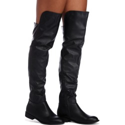 Ready To Ride Faux Leather Boots