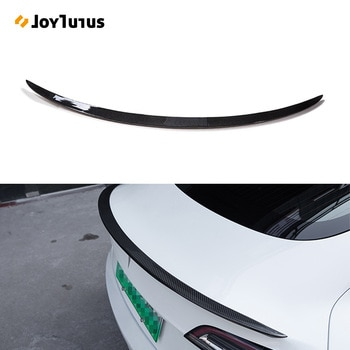 Rear Trunk Spoiler For Tesla Model 3 2017-2019 2020 2021 Rear Trunk Lip Carbon Fiber ABS Wing Spoiler Car Styling