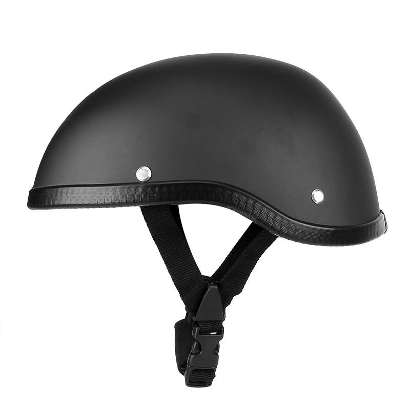 Retro Motorcycle Summer Half Face Helmet Safety Protective German Style