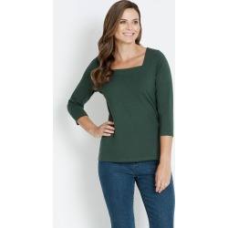 Rivers Square Neck 3/4 Sleeve Tee - Forrest - 10