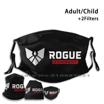 Rogue Company Logo Video Game Washable Reusable Mouth Face Mask With Filters For Child Adult Rogue Company Epic Video Game
