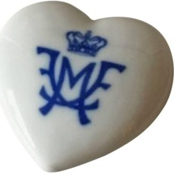 Royal Copenhagen Porcelain Heart Made For Guests At Danish Royal Wedding In 2004