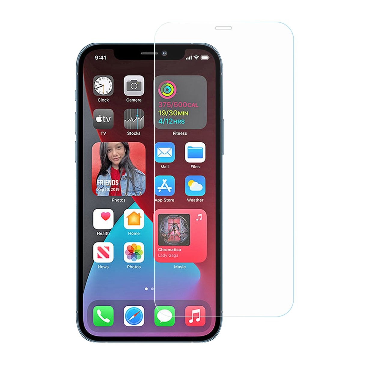 RURIHAI 0.1mm Tempered Glass Ultra Clear AB Glue Protection Film for iPhone 12 mini
