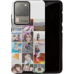 Samsung Galaxy Cases: Collage Squares Samsung Galaxy Case, Silicone liner case, Glossy, Galaxy S20 Ultra, DynamicColor, Phone Ca