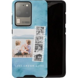 Samsung Galaxy Cases: Watercolor Filmstrip Collage Samsung Galaxy Case, Silicone liner case, Matte, Galaxy S20 Ultra, Blue, Phon
