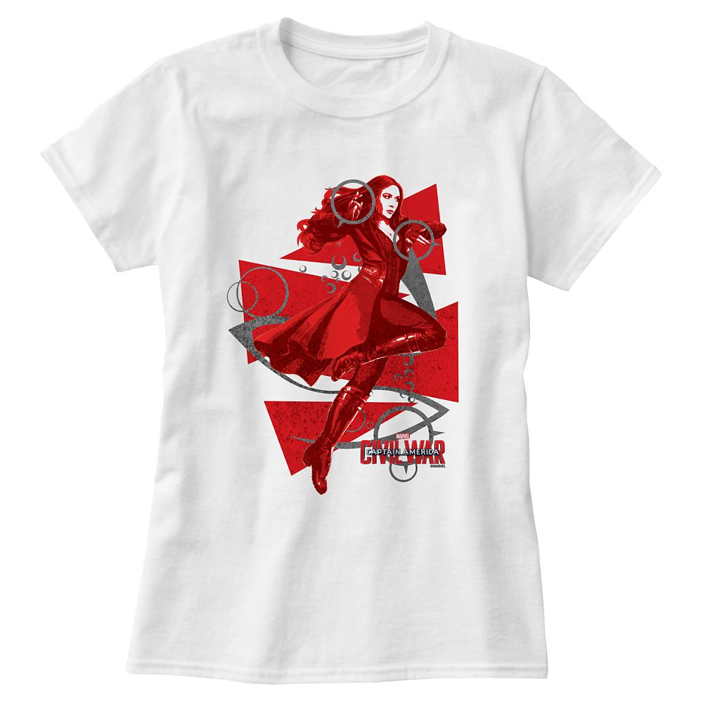 Scarlet Witch Tee For Women Captain America: Civil War Customizable Official shopDisney
