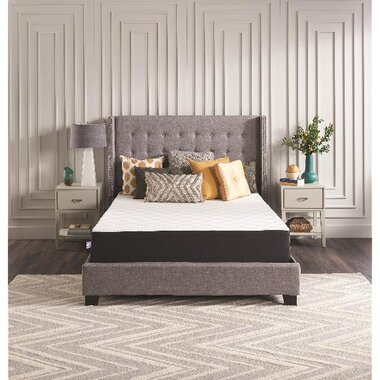 """Sealy F03-00118-QN0 8"""" Medium Memory Foam Queen Bed In A Box Mattress With Ease 3.0 Queen Adjustable Base"""