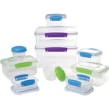 Sistema 61889 20 Piece KLIP IT Accents Collection Food Storage Containers
