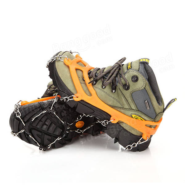 Snow Grip Spike Ice Shoes Boots Anti-slip 8-teeth Climbing Crampons Grippers for Ski Snow Hiking
