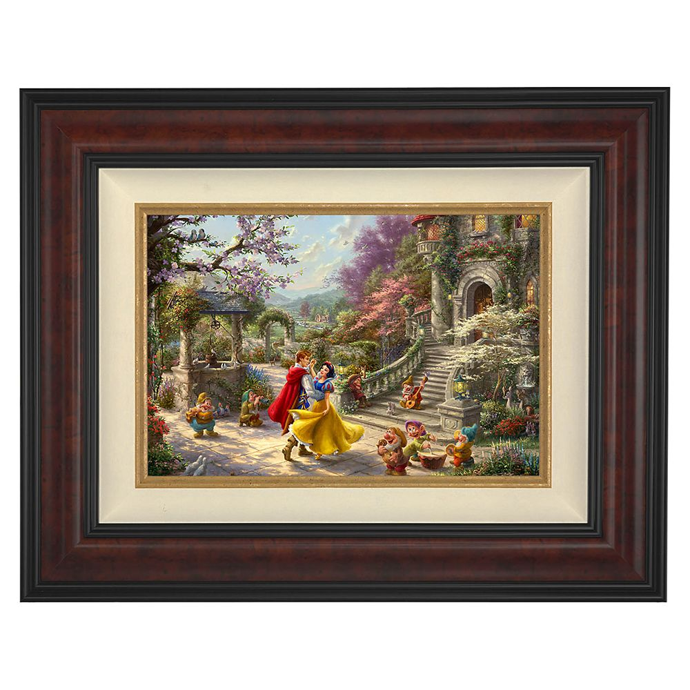 ''Snow White Dancing in the Sunlight'' Framed Limited Edition Canvas by Thomas Kinkade Studios Official shopDisney