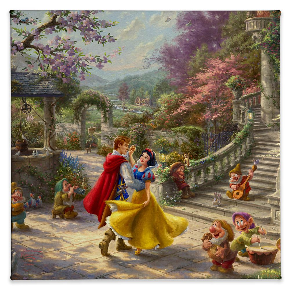 ''Snow White Dancing in the Sunlight'' Gallery Wrapped Canvas by Thomas Kinkade Studios Official shopDisney