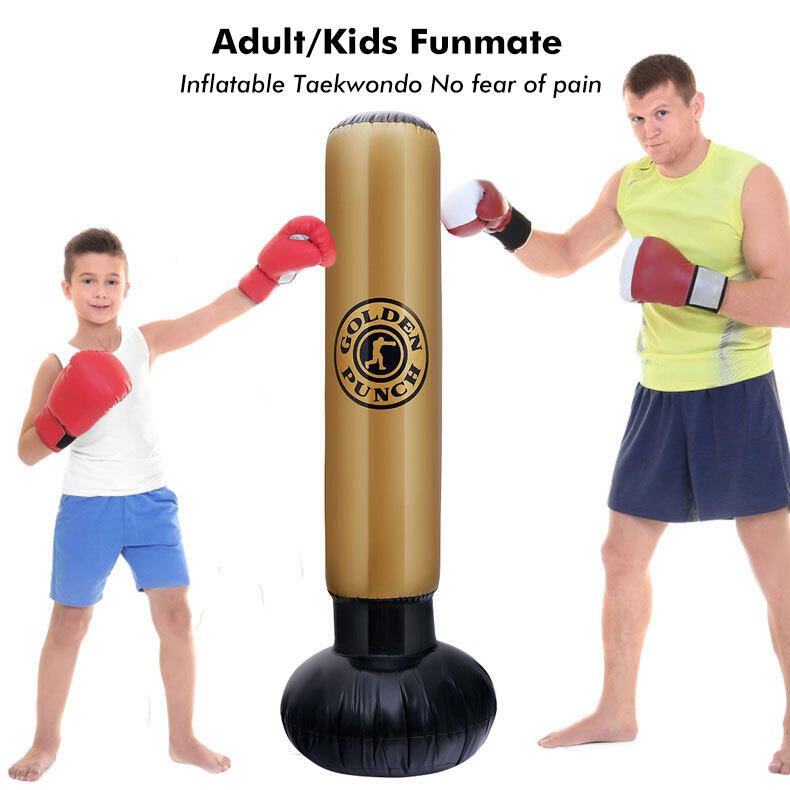 Sport Product PVC Inflatable Decompression Fitness Tumbler Boxing Post in Pattern1. Size: One Size
