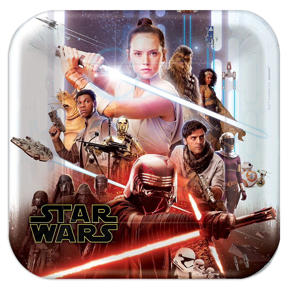 Star Wars: The Rise of Skywalker Paper Plates Official shopDisney