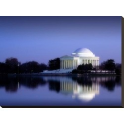 Stretched Canvas Print: Jefferson Memorial, Washington, D.C. Number 2 - Vintage Style Photo Tint Variant by Carol Highsmith: 18x24in