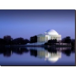 Stretched Canvas Print: Jefferson Memorial, Washington, D.C. Number 2 - Vintage Style Photo Tint Variant by Carol Highsmith: 30x40in