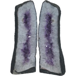 Stunning Pair Of 120kg Amethyst Crystal Geodes Very Large Relieves Stress Strain