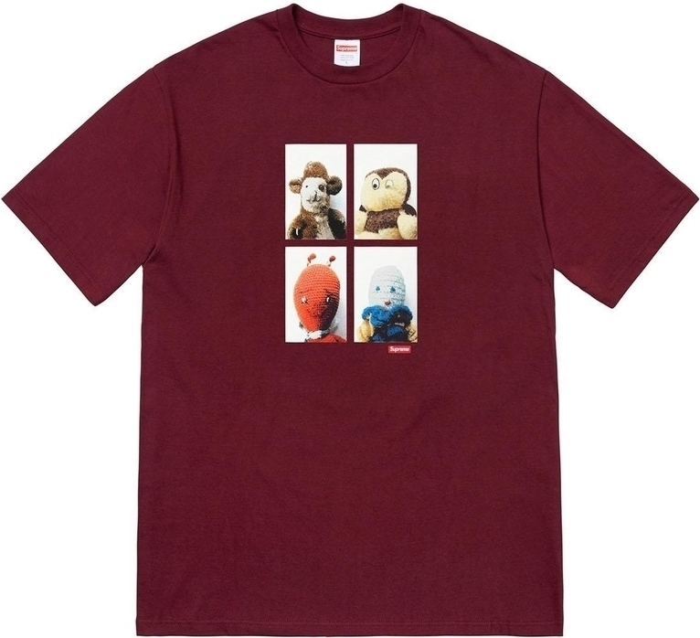 SUPREME Supreme FW18 Mike Kelley AhhYouth Tee Burgundy T T-shirts SUP-FW18-292 (Size: US L)