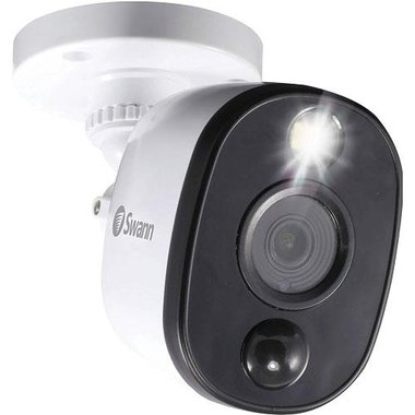 Swann SWPRO-1080MSFB-US 1080p Weatherproof Bullet Add-On Security Camera With Warning Light