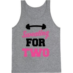 Sweating For Two Tank Top from LookHUMAN