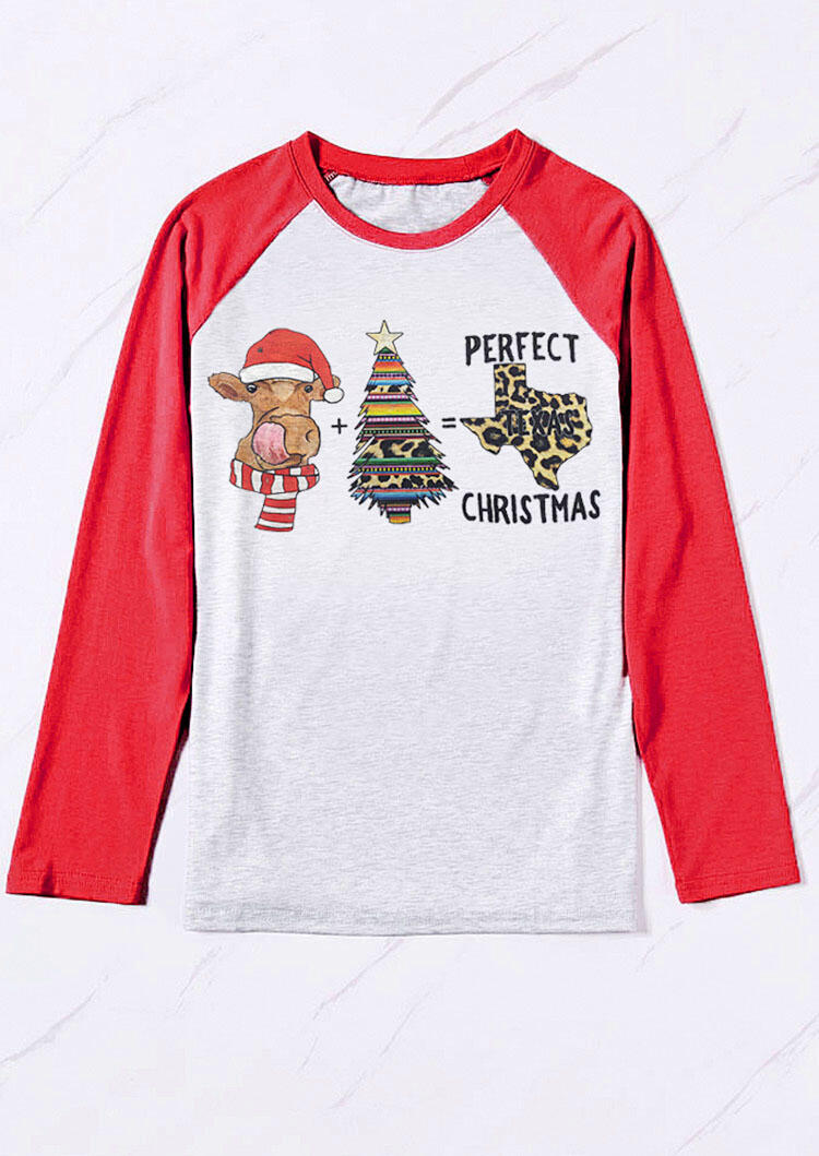 Tees T-shirts Leopard Printed Perfect Texas Christmas T-Shirt Tee in Light Grey. Size: S,M,L