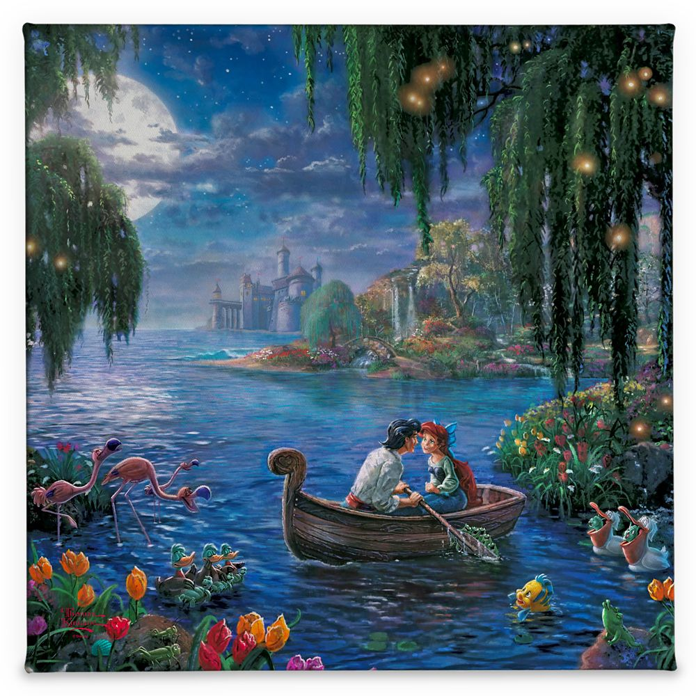 ''The Little Mermaid II'' Gallery Wrapped Canvas by Thomas Kinkade Studios Official shopDisney