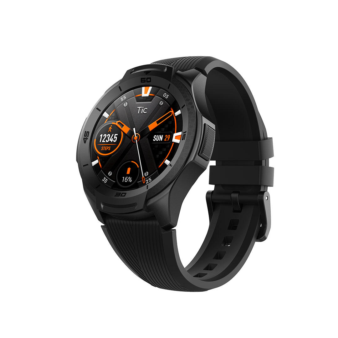 TicWatch S2 1.39inch AMOLED Full Touch 512MB+4GB 5ATM Waterproof 24h Heart Rate Monitor US Military Standard 810G Recogn