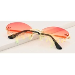 Tinted Lens Rimless Sunglasses