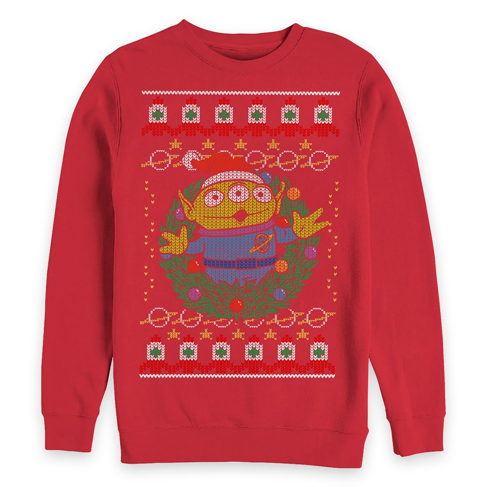 Toy Story Alien Holiday Pullover Sweatshirt for Adults Official shopDisney
