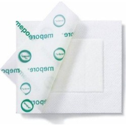 Transparent Film Dressing Mepore Film Rectangle 6 X 8-1/2 Inch Frame Style Delivery Without Label S - 1 Each by Molnlycke Health