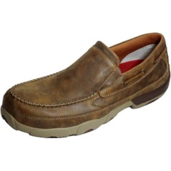 Twisted X Mens Bomber Slip-on Driving Mocs 10