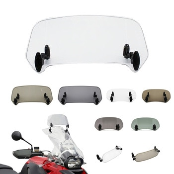 Universal Motorcycle Windshield Extension Adjustable Spoiler Clamp-On Windscreen Deflector For BMW KAWASAKI YAMAHA HONDA SUZUKI