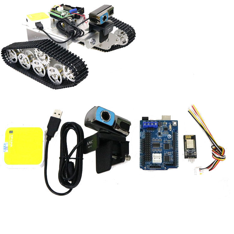 UNO R3 Board+Motor Drive Board+ Camera+Router+Wifi Module Kit 2/3/4WD Smart Chassis Tank Car Video Controller Kit with f