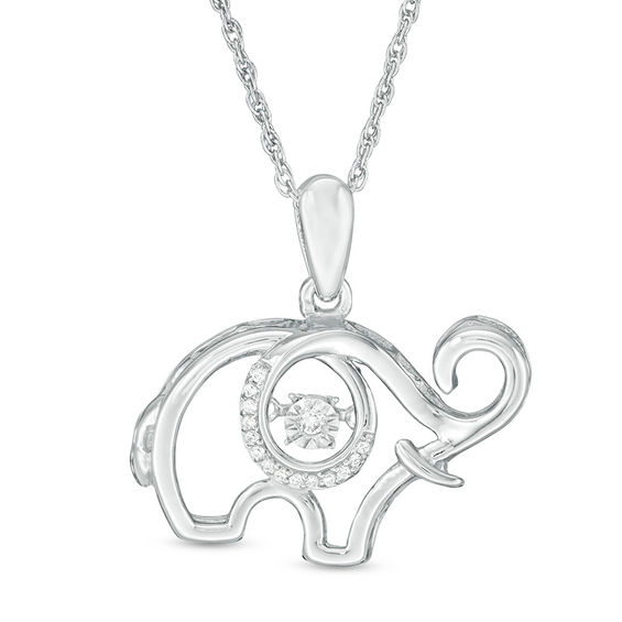 Unstoppable Love™ Diamond Accent Elephant Pendant in Sterling Silver