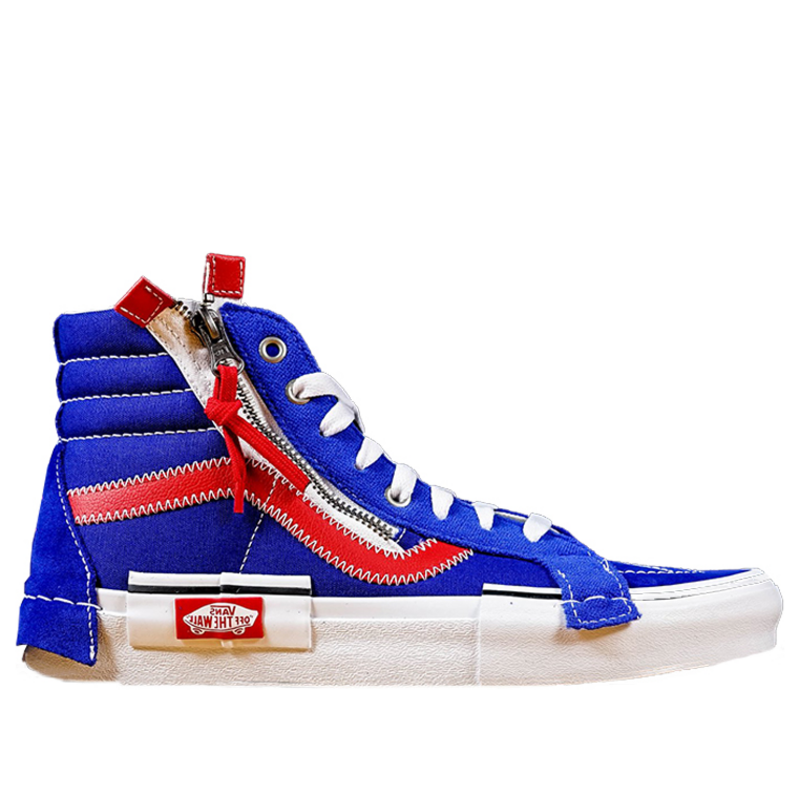 Vans Sk8-Hi Reissue CAP 'Surf The Web' Surf The Web/Racing Red Sneakers/Shoes VN0A3WM1XKT (Size: US 7.5)