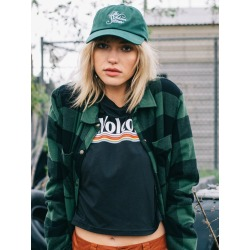 Volcom Plaid About You Long Sleeve - Green - Green - L