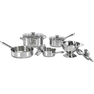 Wearever A834S984 10 Piece Cook & Strain Stainless Steel Cookware Set